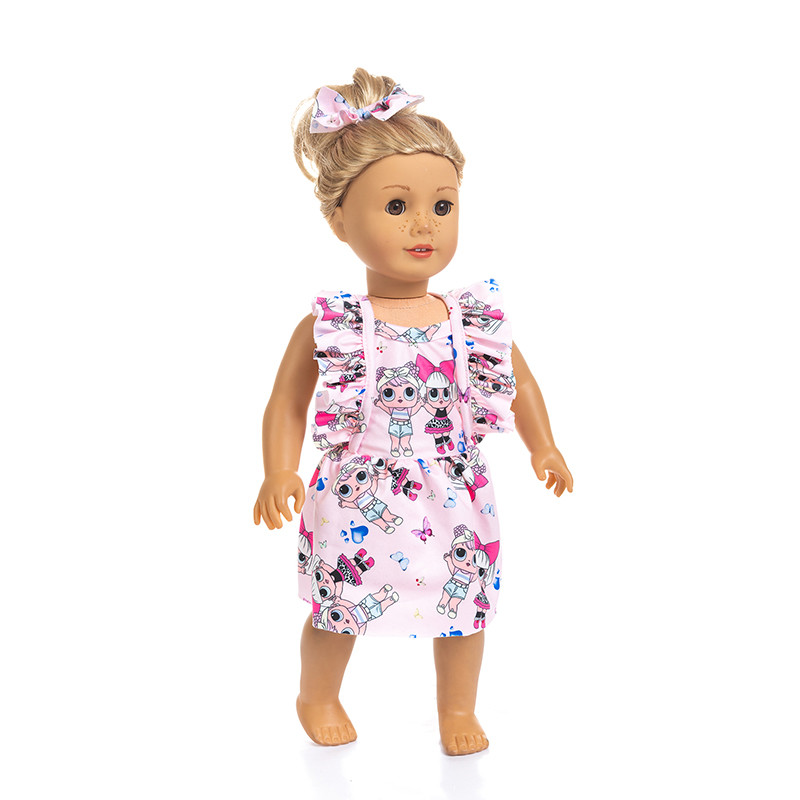 Fit 18 inch Doll Clothes Accessories Born New Baby Hiva Cowboy Suit Doll Clothes For Baby Birthday Festival Gift in Dolls Accessories from Toys Hobbies