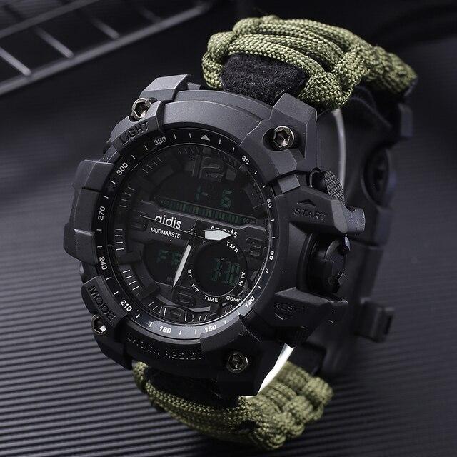 Addies G Shock Mannen Militaire Horloge Met Kompas 3Bar Waterdichte Horloges Digitale Beweging Outdoor Fashion Casual Sport Horloge Mannen