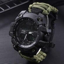 Addies G şok erkek askeri izle pusula ile 3Bar su geçirmez saatler dijital hareketi açık moda rahat spor izle erkekler