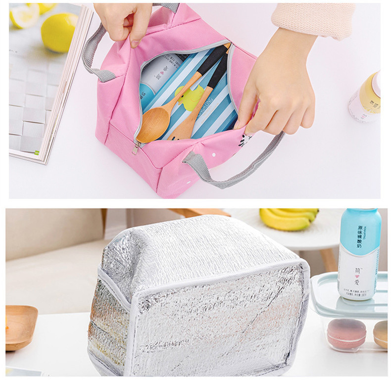 Children's Thermal Insulated Cute Lunch box, Picnic bag (TLB01)