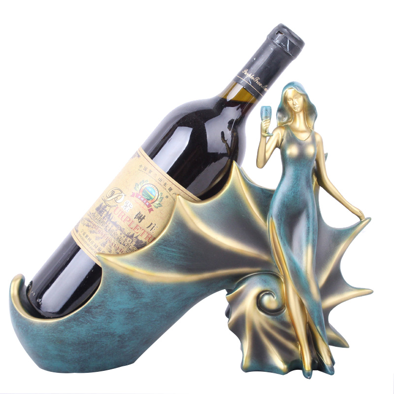 Wine Racks Handmade Beauty Elegant Girl Home Kitchen Bar Accessories Wine Holder Metal Craft Girl Friend