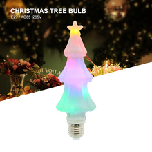 цена на 3W E27 / E26 LED 3D Christmas Tree Bulb Holiday Creative RGB Lamp 85-265V For New Year Wedding Night Light Home Party Decoration