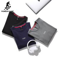 Pioneer Camp Thicken Autumn T Shirt Men Brand Clothing Simple Comfortable T Shirt Male Top Quality