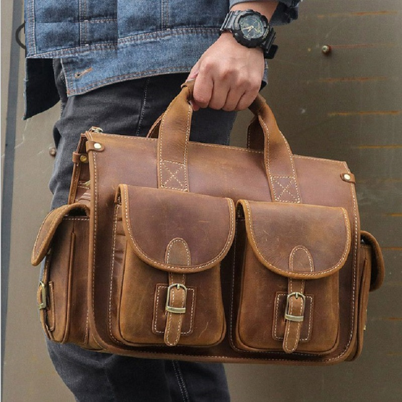 Travel Business Briefcases For Men Genuine Leather 2019 New Man 15