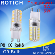 G9 led corn lamp AC220V 3014 3w 5w high quality LED Crystal Silicone Candle Replace 20-40W halogen lamps Christmas light bulb