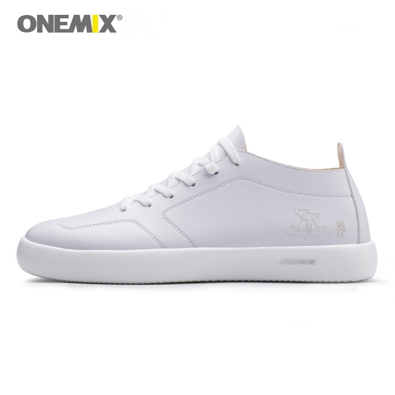 ONEMIX White Sneakers Light Foam Outsole Soft leather Casual Shoes For Men Max 11