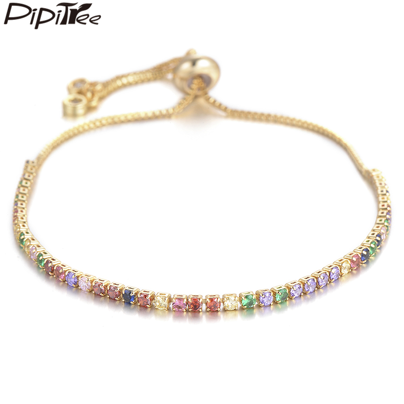 Pipitree Multi Cubic Zirconia Tennis Bracelet for Women