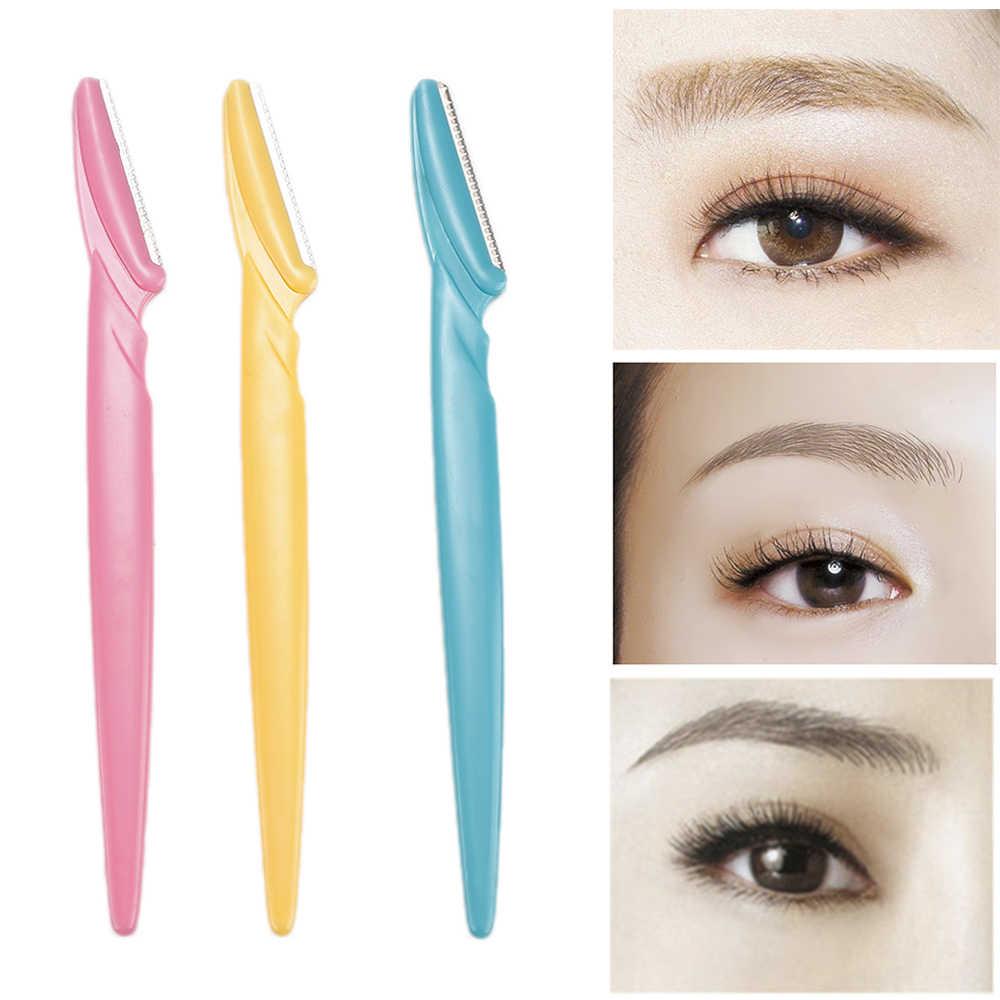 3 ピース/セットポータブル眉毛トリマーヘアリムーバーセット女性かみそり眉毛トリマー刃シェーバー化粧品キット