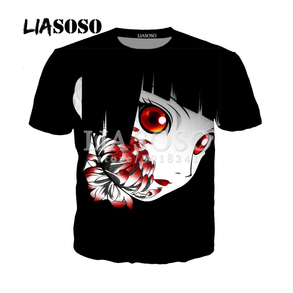LIASOSO Fashion Tee Shirt Men Women Tshirt 3D Print Anime Girl Neko T Shirt Summer Cute Cat Short Sleeve/Hoodies Tops Y126