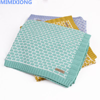 Newborn Baby Wrap Muslin Swaddle Blanket Plaid Knitted Toddler Infant Basket Bedding Cover Winter Warm Unisex