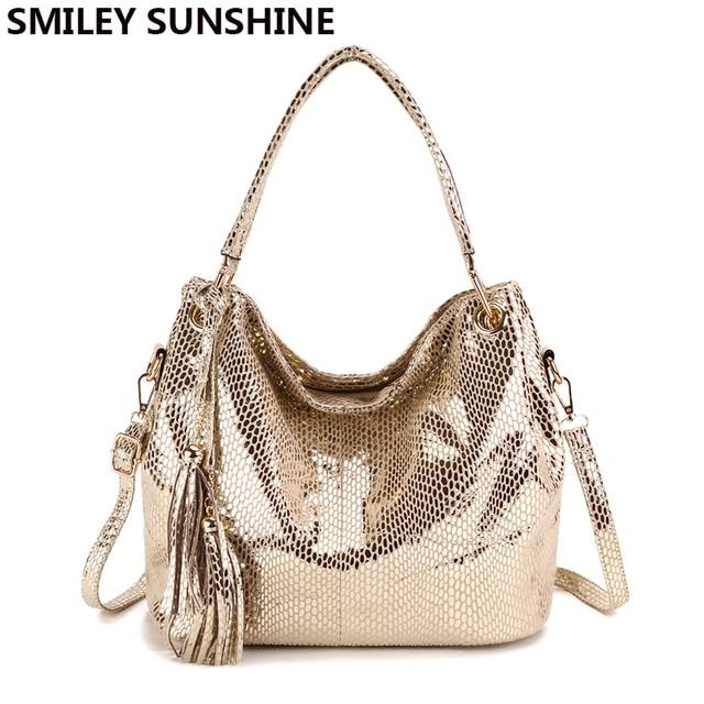 e11eebc385 SMILEY SUNSHINE Tassel Women Bags Hobo Female Red Leather Handbags Purses  Ladies Shoulder bags Big Crossbody Bags for Women 2018