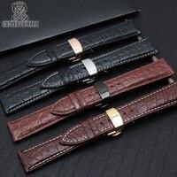 Alligator leather bracelet strap 12 24mm band black/brown/black white/brown white color watchband Genuine leather strap