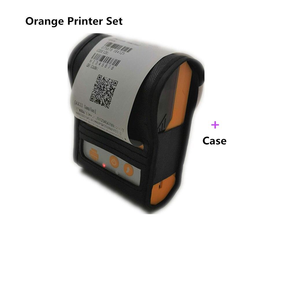 Orange Standard Bluetooth wireless thermal receipt printer plus protection case