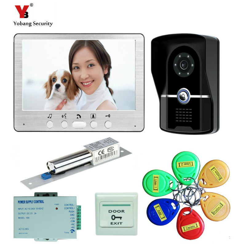 Yobang Security 7 Video Doorbell Phone Video Intercom Door Intercom Doorphone IR Night Vision Camera Doorbell Kit for ApartmentYobang Security 7 Video Doorbell Phone Video Intercom Door Intercom Doorphone IR Night Vision Camera Doorbell Kit for Apartment