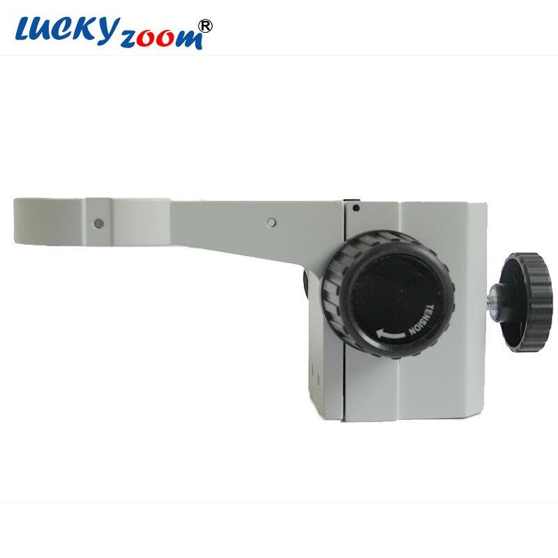 Luckyzoom A1 Métal Stéréo Zoom Microscope Point D'ajustement Bras Microscopio Tête Titulaire 76mm Pilier Stand Arbor Pour Trinoculars