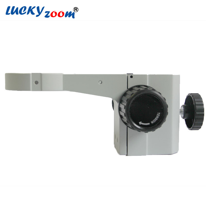 Luckyzoom A1 Metallo Stereo Zoom Microscopio Messa A Fuoco Regolazione Braccio Microscopio Supporto della Testina di 76mm Pilastro Stand Arbor Per Trinoculars