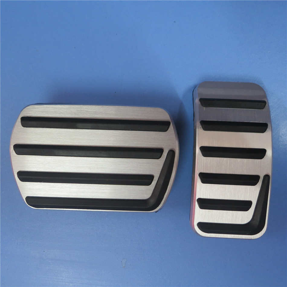 Ди автомобильные аксессуары Алюминиевый сплав педаль тормоза для VOLVO S40 V40 C30, Нескользящие Педальная пластина наклейки на планшет - Название цвета: 2 pcs