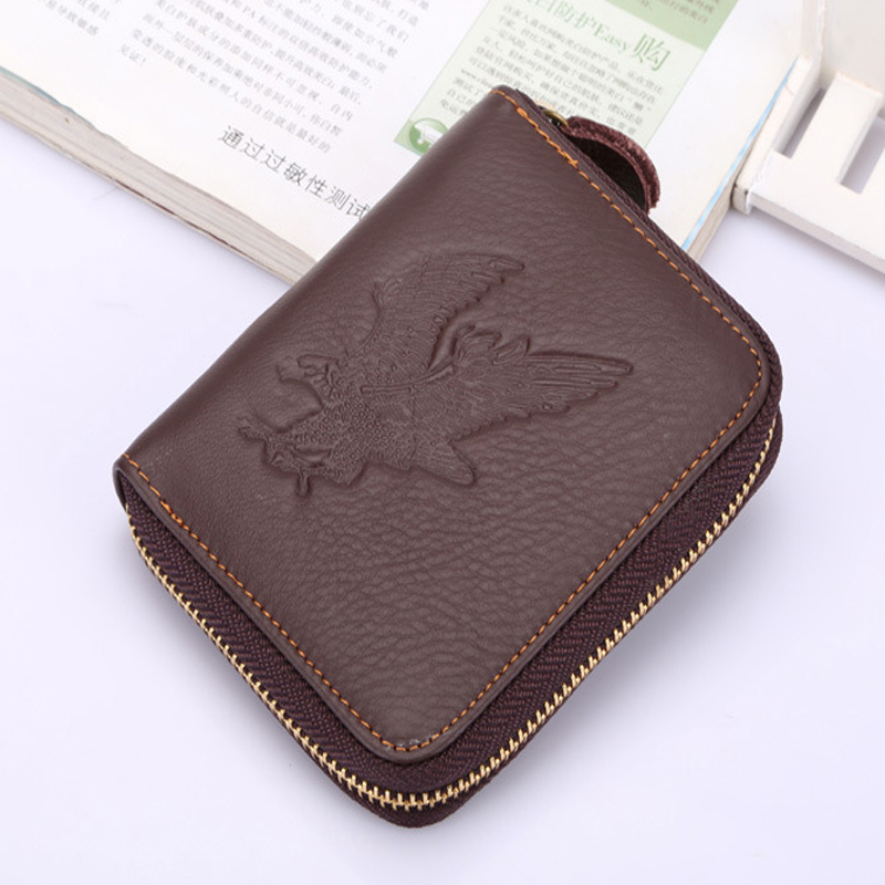 JUST LUCK MORE2016 New Hot High Quality Genuine Leather Wallet Men Wallets Vintage Organizer Purse Billfold Zipper Coin Pocke