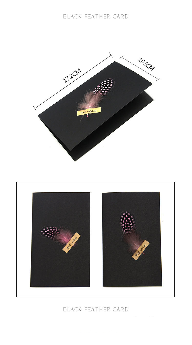 ✅1pc Black High-grade Stereoscopic card envelope True ... on