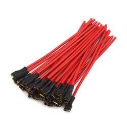 Uxcell a16072500ux0105 13 см автомобиля динамик провода женский терминал адаптер жгут разъем красный 30 шт., упак. К