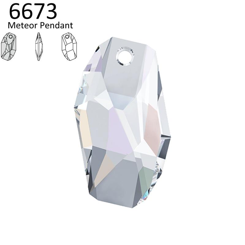 1 Piece 100% Original Crystal From Swarovski 6673 Meteor Pendant Made In Austria Loose Rhinestone Diy Pendant Jewelry Making Jewelry & Accessories