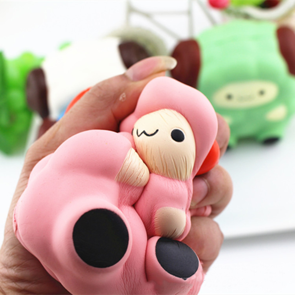 Anti Stress Toys Jumbo Squeeze Sheep Cream Scented Stress Relief Kids Squeeze Toy Funny Gadgets