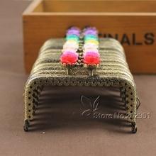 KISS bricolage cadre en métal, tête de Rose 8.5 CM, cadre de sac à main en Bronze antique, fermoir en métal, accessoires, vente en gros, 20 pièces