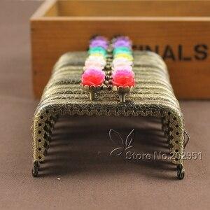 Image 1 - KISSDIY 20pcs Wholesale 8.5 CM Rose Head metal purse frame antique Bronze Square Kiss metal Clasp Pattern DIY Bag Accessories