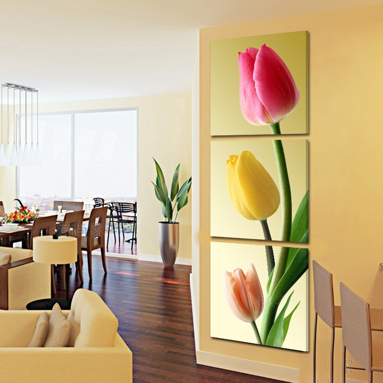 Hot Sell 3 Pcs Flowers Wall Painting HD Print Picture Still Life ...