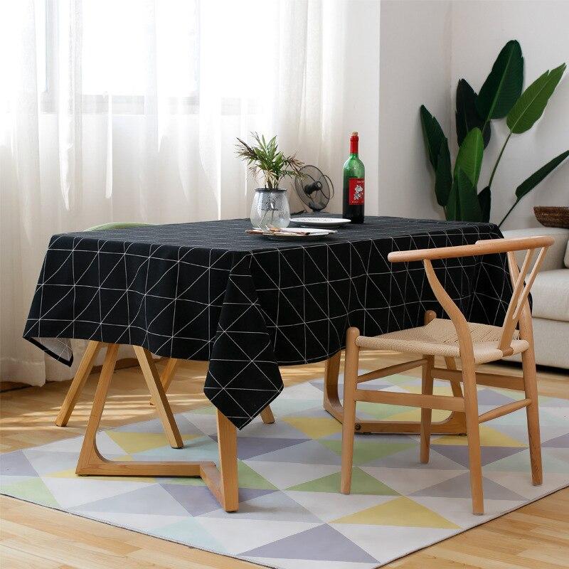 Byetee Plaid impreso de tela de mesa moderna Simple mantel para ...