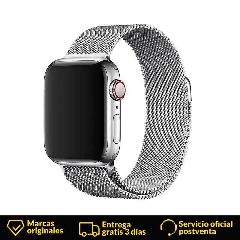 Montre homme Apple smartwatch MTU22ZM/A acier inoxydable argent bande pomme 1 pc (s)