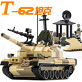 GUDI Assembled Military Armed Raid T-62 Tanks Child Building Blocks Toy