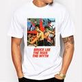 2017 Nueva Moda Bruce Lee el hombre el mito Impreso T-shirt de Manga Corta T-shirt