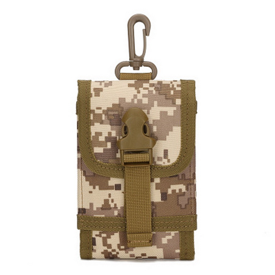 by dhl 200pcs hot Tactical Phone Bag Army Green Waist Bag Men Military Molle Backpack Hanging