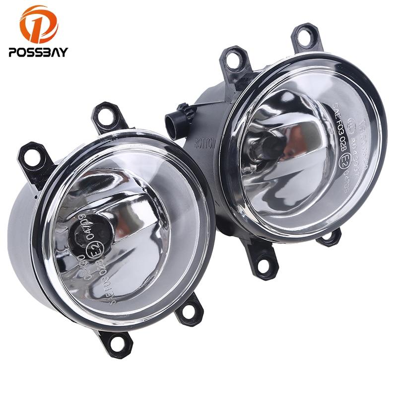 POSSBAY Fog Lights 12V 55W H11 Halogen Bulbs font b Lamp b font Amber for Toyota