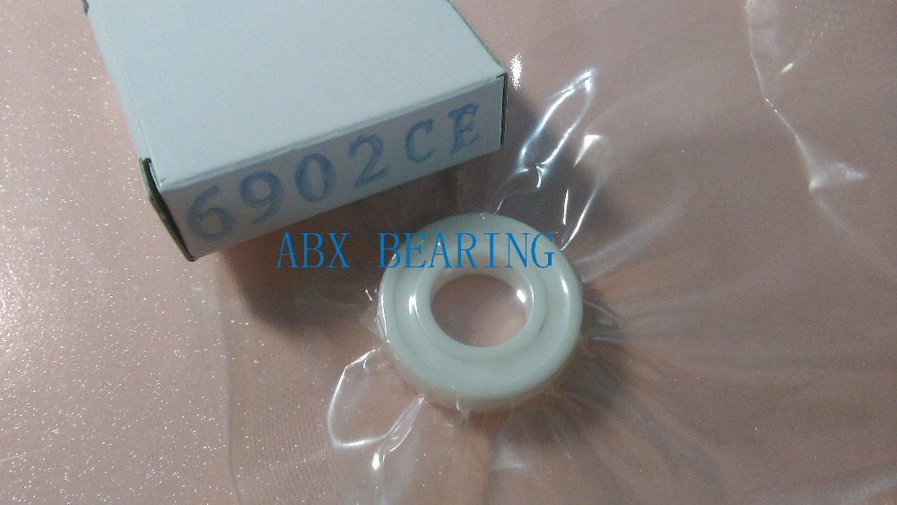 6902-2RS full ZrO2 ceramic deep groove ball bearing 15x28x7mm sealed 6902 61902 shield