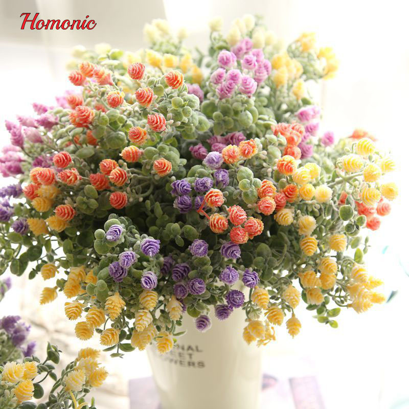 Buy best mini decor flower pompom decoration artificial for Artificial flowers decoration for home
