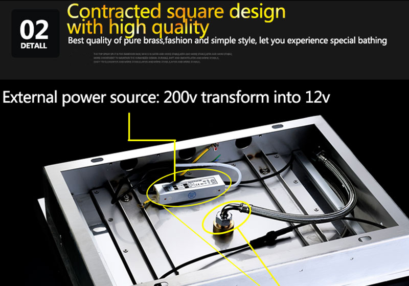 Digital Shower Set Controller Touch Control Panel SUS304 Rainfall Bathroom Thermostatic Control Led Digital Shower Faucet (17)