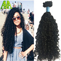 Clip In Human Hair Extensions 7Pc Natural Brazilian 8A Grade African American Deep Curly Clip In Human Hair Extensions Clip Ins