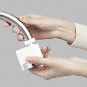 Image 1 - Dispositivo de detección automática Youpin ZJ, dispositivo de ahorro de agua por inducción infrarroja, difusor de agua, cocina, lavabo, grifería