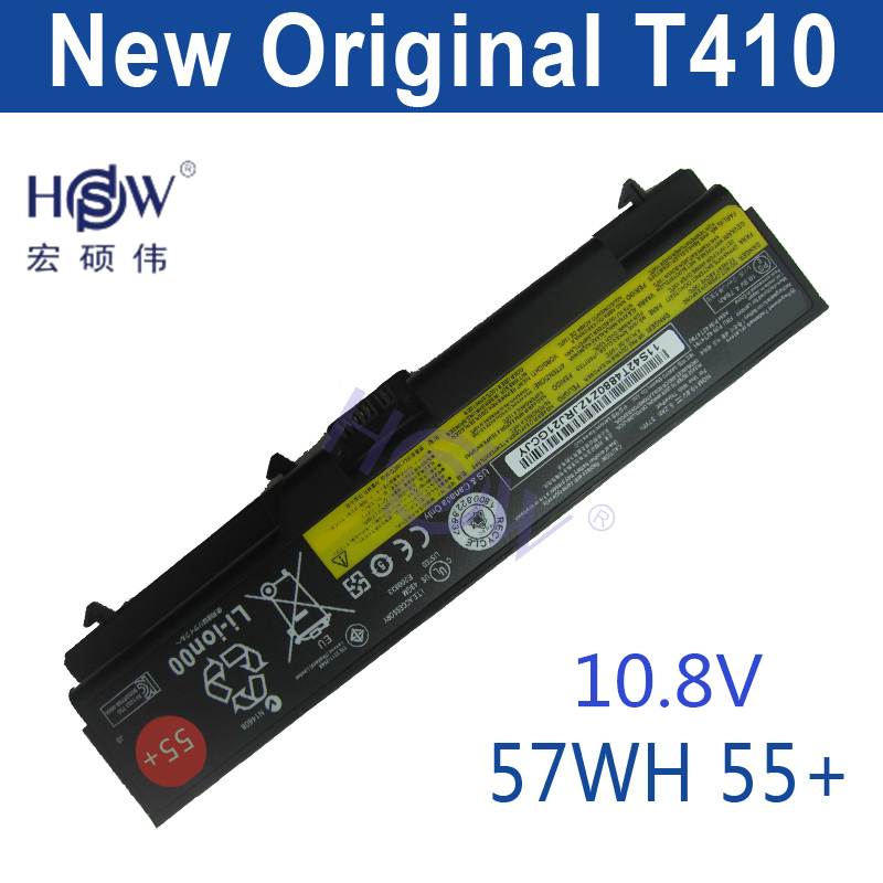HSW   10.8v 57WH laptop battery FOR Lenovo L510 L512 L520 SL410 SL510 T410 T420 T510 T520 W510 W520 new keyboard for lenovo thinkpad t410 t420 x220 w510 w520 t510 t520 t400s x220t x220i qwerty latin spanish espanol hispanic