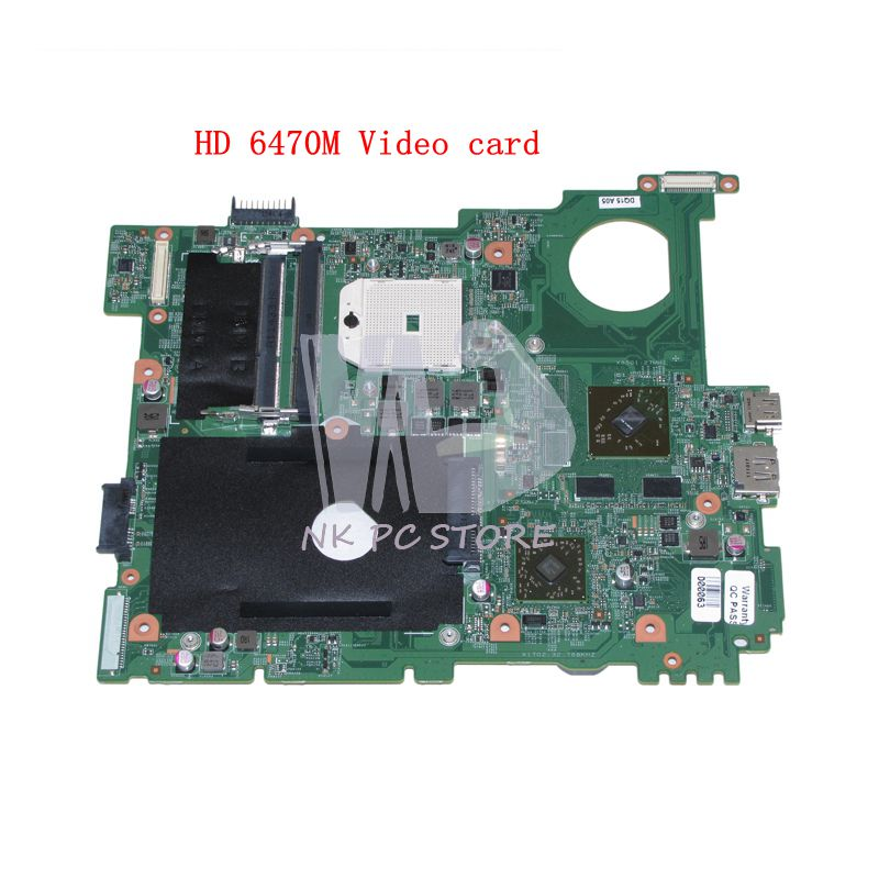 NOKOTION CN-0FJ2GT 0FJ2GT MAIN BOARD For Dell Inspiron M5110 Laptop motherboard DDR3 Socket FS1 HD6470M Video card nokotion cn 0uw953 uw953 mainboard for dell inspiron 1501 laptop motherboard 0uw953 ddr2 socket s1