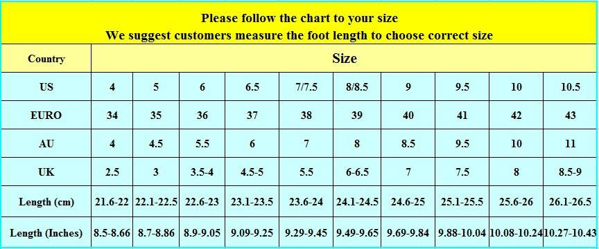 website nancyweding shoes size chart