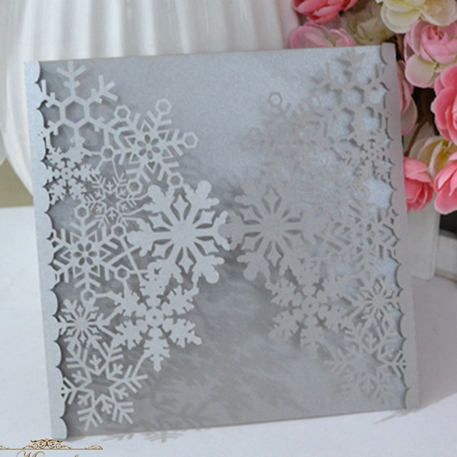 Us 39 99 Aliexpress Com Winter Wedding Decoration And Snowflake Type Card Invitation Invitations From Reliable Cards