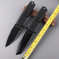 Fixed blade knife 440C blade rubber handle tactical hunting knives outdoor camping survive knives multi diving tool & ABS sheath