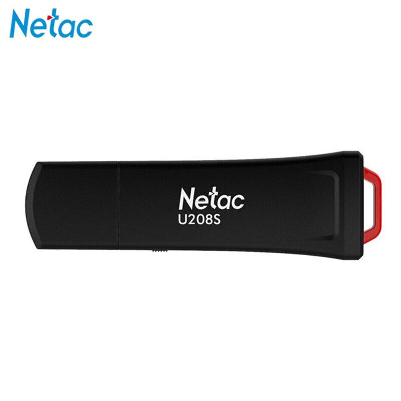 Unidade Flash Netac U208S 8GB GB GB de proteção contra gravação 32 16 Criptografada Flash Usb 2.0 pen drive Vara Pendrive para Laptop Tablet