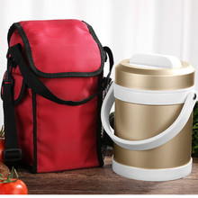 2000ml Thermos Insulated Food Container Vacuum Lunch Box for Soup Pot Portable Stainless Steel Bowl Flask