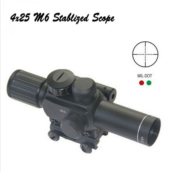 Free Shipping M6 Cheap price hunting scope for rifle discount 4x25 font b night b font