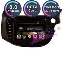 Roadlover Android 8,0 Автомобильный мультимедийный dvd плеер аудио для Honda Fit Jazz 2007 RHD стерео gps навигации Automagnitol 2Din радио
