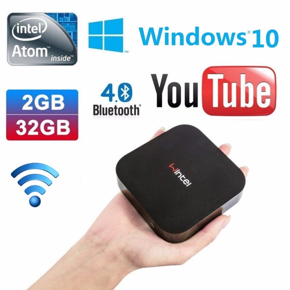 GULEEK W8 Mini PC Windows10 Intel Bay Trail CR Z3735F Quad core 2G 32G 1080P WiFi